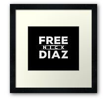 Free Nick Diaz Framed Print