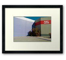 Shopping Center Facade Framed Print