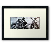 Born to ride by db artstudio Framed Print