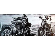 Born to ride by db artstudio Photographic Print
