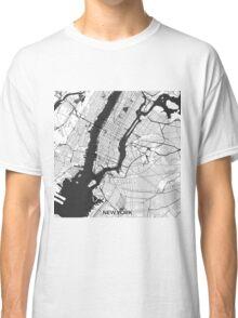 New York Map Gray Classic T-Shirt