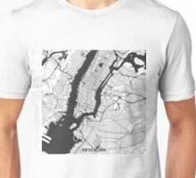 New York Map Gray Unisex T-Shirt