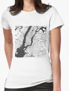 New York Map Gray T-Shirt