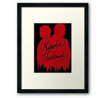 Murder Husbands [Red/Black] Framed Print