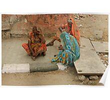 Street scene in Jaipur Poster