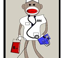 Sock Monkey Nurse by gailg1957