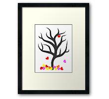 Tree of Falling Hearts Framed Print