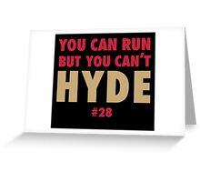 Carlos HYDE Greeting Card