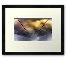 ...and as the rift opens Framed Print