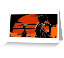 samurai champloo mugen jin anime manga shirt Greeting Card