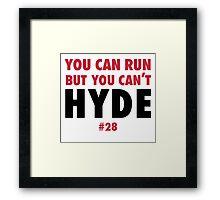Carlos HYDE w Framed Print