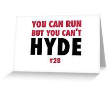 Carlos HYDE w Greeting Card