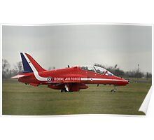 Red Arrows Hawk T1 Poster