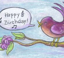 Happy Birthday card by Ine Spee