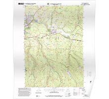USGS Topo Map Oregon Austin 278901 1998 24000 Poster