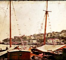 Kavala Harbour 1968 by pennyswork