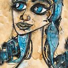 MY BLUE BELLE by Barbara Cannon  ART.. AKA Barbieville