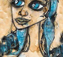MY BLUE BELLE by Barbara Cannon  ART.. AKA Barbieville