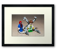 Spiderman and Dr. Otto Octavius Framed Print