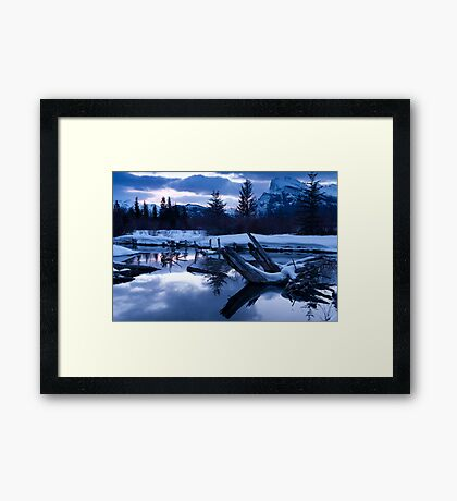A chill is in the air - Banff AB Canada Framed Print