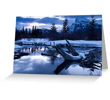 A chill is in the air - Banff AB Canada Greeting Card