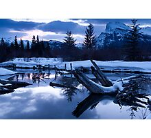 A chill is in the air - Banff AB Canada Photographic Print