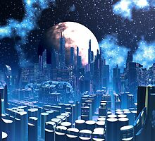 City of Elevatia - Planet Kiros by SpinningAngel
