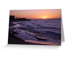 Tropical Island Sunset Greeting Card