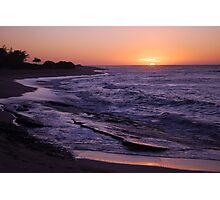 Tropical Island Sunset Photographic Print