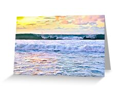 Pipeline at Sunset Greeting Card