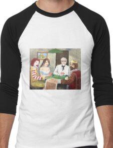 Commercial poker and pizza Men's Baseball ¾ T-Shirt