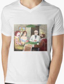 Commercial poker and pizza Mens V-Neck T-Shirt
