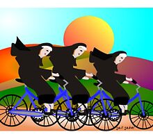 Nuns On Bikes by gailg1957