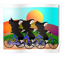 Nuns On Bikes Poster