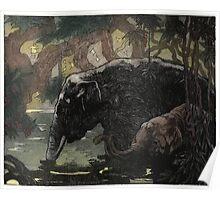 Maurice de Becque Livre de la jungle, p197 Poster