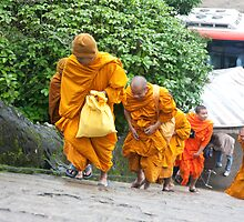 Monks Heading Up by phil decocco