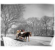 Central Park, Handsome cab ride. Poster