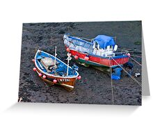 Flora Jane - Staithes Harbour. Greeting Card