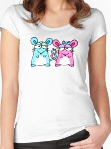 Mice In Love - A design by Perrin Women's Fitted Scoop T-Shirt