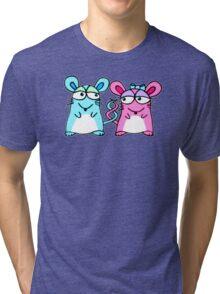 Mice In Love - A design by Perrin Tri-blend T-Shirt