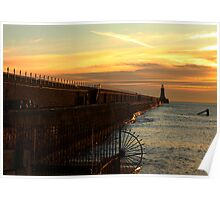 North Tyne Golden Pier  Poster