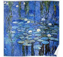 water lilies a la Monet Poster