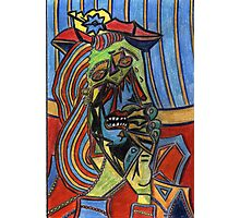 196 - PICASSO'S WEEPING WOMAN - DAVE EDWARDS - COLOURED PENCILS - 2007 Photographic Print