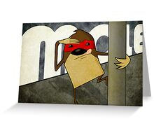 Mole on a pole Greeting Card