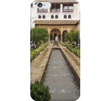 Patio de la Acequia, Alhambra Generalife, Granada, Andalucia, Spain iPhone Case/Skin