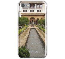 Patio de la Acequia, Alhambra Generalife, Granada, Andalucia, Spain iPhone Case/Skin