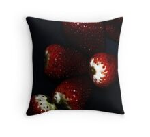 Sparkling Berries Throw Pillow