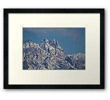 Mid-winter in the Peaks of the Organ Mountains Framed Print