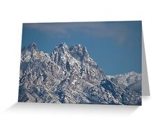 Mid-winter in the Peaks of the Organ Mountains Greeting Card