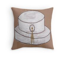 """lost"" Fat Cap Throw Pillow"